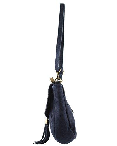Shoulder histoireDaccessoires Bag OE Navy Women's SA011321 Blue Leather Flavia GE EFxCRw7qF