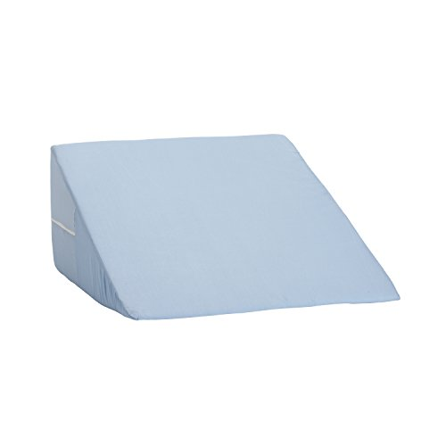 Wedge Head (Mabis 802-8028-0100 DMI Foam Bed Wedge, Elevates Your Head or Legs To Help Relieve Common Pains Like Acid Reflux, Neck and Shoulder Pain Knee Pain, Back Pain, and Varicose Veins, Pack of 1, Blue)
