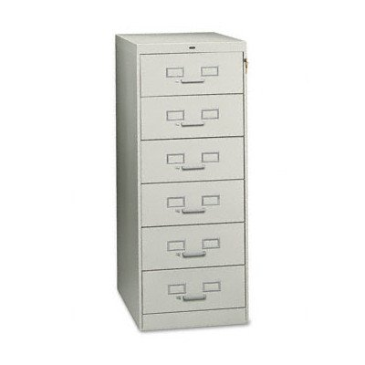 Tennsco Six-Drawer Multimedia Filling (Library Card File Multimedia Cabinet)
