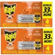 Raid Concentrated Deep Reach Fogger (1.5 Ounces, 4 count) pack of 2 ()