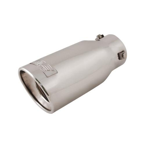 Resonated Bolt (DC Sport EX-1013 Stainless Steel Resonated Slant Cut Bolt-on Exhaust Tip)