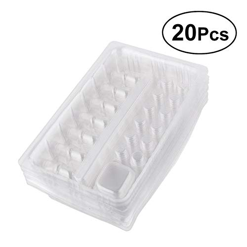 Taka Co Plastic Party Cups 20 Pcs Disposable Plastic Tattoo Needle and Cartridge Tray Pigment Rack Holder Container Ink Cups Tattoo Accessories-]()