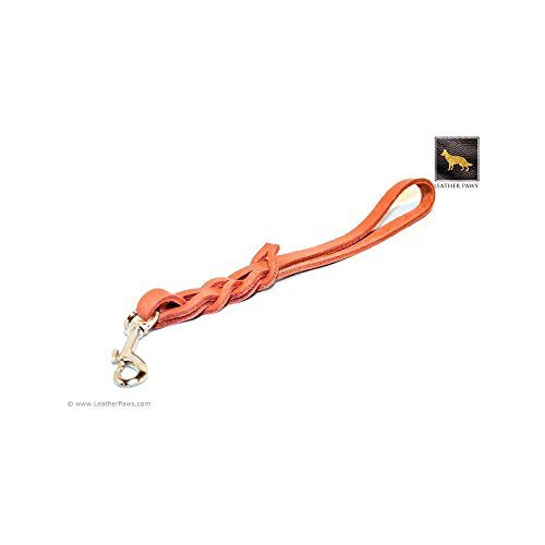 Leather Paws 1 Feet Terracotta Love Knot Short Leather Leash