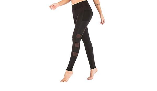 Moginp Mallas Pantalones Deportivos Mujer Yoga con Bolsillo ...