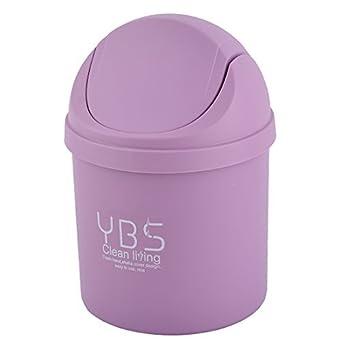 Caja de almacenamiento de plástico eDealMax Inicio del escritorio de la decoración de la basura de