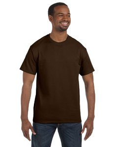 Dark Chocolate Adult (Gildan Adult 5.5 oz 100% Cotton Short Sleeve T-Shirt in Dark Chocolate - XXX-Large)