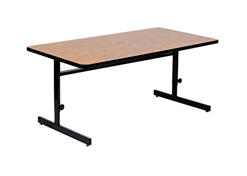 [Correll CSA2436-06 Adjustable Height  Computer & Training Table, 24