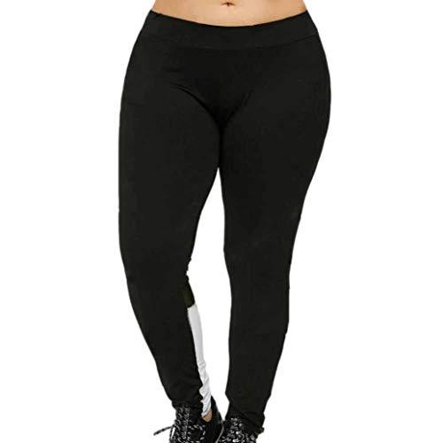 Yoga Pants,Lowprofile Women Plus Size Elastic Leggings Block Mesh Splicing Sport Pants Sport Trousers