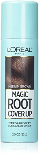 L'Oreal Paris Hair Color Root Cover Up Temporary Gray Concealer Spray, Light to Medium Brown, 2 -