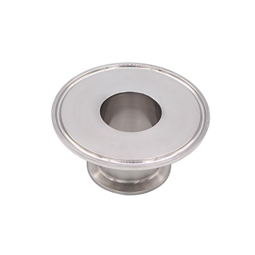 Dernord Sanitary Concentric Reducer Tri Clamp Clover Stainless Steel 304 Sanitary Fitting End Cap Reducer (Tri Clamp Size: 3 inch x 1.5 inch) by Dernord (Image #2)