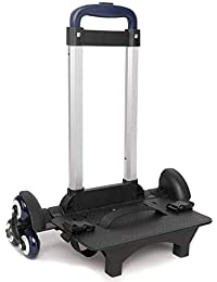 Foldable Trolley Cart for School Bags - Wheeled Hand Truck for Kids,Student's Luggage Travel Hand Cart with Buckles(6 wheels)