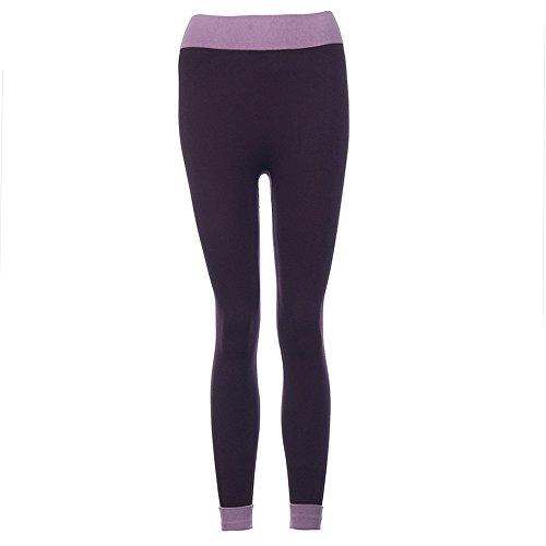 MORCHAN ? Femmes Fitness Yoga Leggings Taille Haute Patchwork Skinny Push up recadre Pantalons Jeans Combinaisons Pantalon Court Collants Knickerbockers Violet