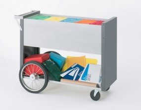 Charnstrom Long Solid Metal Cart with 16-Inch Rear Wheels (B147Y) by Charnstrom