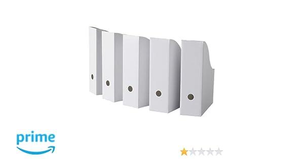 IKEA FLYT - Revistero archivador, color blanco: Amazon.es: Oficina y papelería