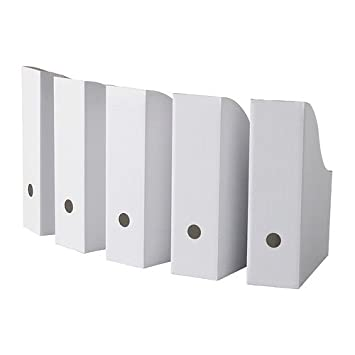 Cardboard Magazine Holders Amazoncom IKEA Flyt Magazine file Pack of 41 White Office 19