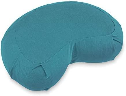 Lotuscrafts Cojin Zafu Meditación Media Luna SIDDHA - Altura 15 cm - Relleno de Espelta - Cubierta en Algodon Lavable- Cojin Suelo - Cojin Yoga Media ...