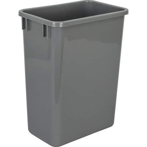 Hardware Resources CAN-35GRY Plastic Waste Container, ()