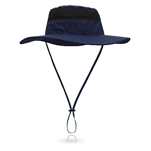 Jane Shine Outdoor Sun Hat Quick-Dry Breathable Mesh Hat Camping Cap Dark -
