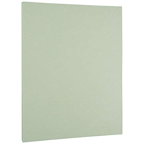 JAM PAPER Parchment 24lb Paper - 8.5 x 11 - Green Recycled - 100 Sheets/Pack