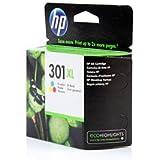 HP 301XL High Yield Tri-colour Original Ink Cartridge