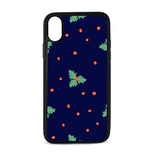 Poinsettia Hand-Painted Flowers Digital Print TPU Pc Pearl Plate Cover Phone Hard Case Cell Phone Accessories Compatible with Protective Apple Iphonex/xs Case 5.8 Inch