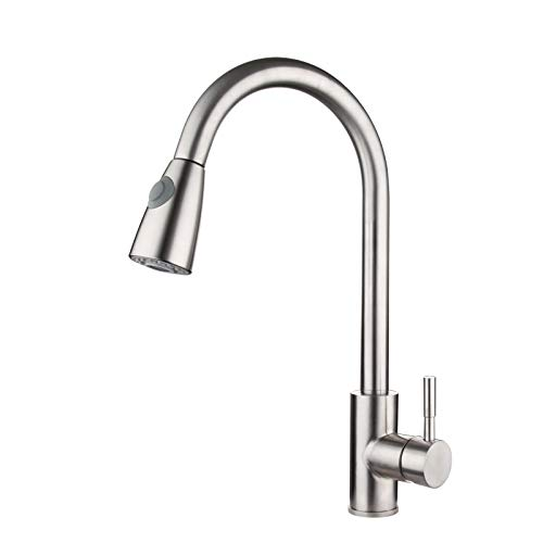 Bathroom Sink Basin Lever Mixer Tap Kitchen Faucet 304 Stainless Steel Pull Faucet Can redate Kitchen Faucet Cold and Hot Water Mixing Valve Vegetable Basin Faucet