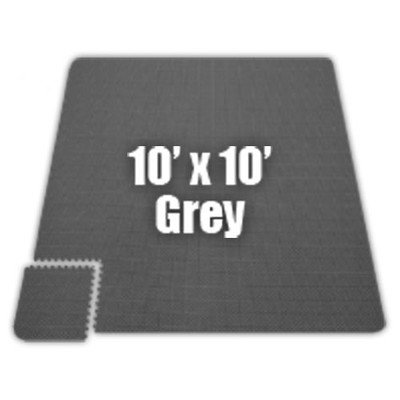 Premium SoftFloors Set in Grey [Set of 8] Size: 14′ x 16′