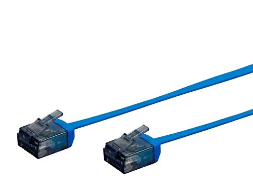 Monoprice 134652 Cat6 Ethernet Patch Cable - 7 Feet - Blue, Flat Cable | Stranded, 550Mhz, Utp, Pure Bare Copper Wire, 34Awg, 7Ft