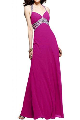 Toscana sposa Chic Chiffon Rueckenfrei stanotte vestimento un'ampia Party ball abiti da sera per mode viola 36