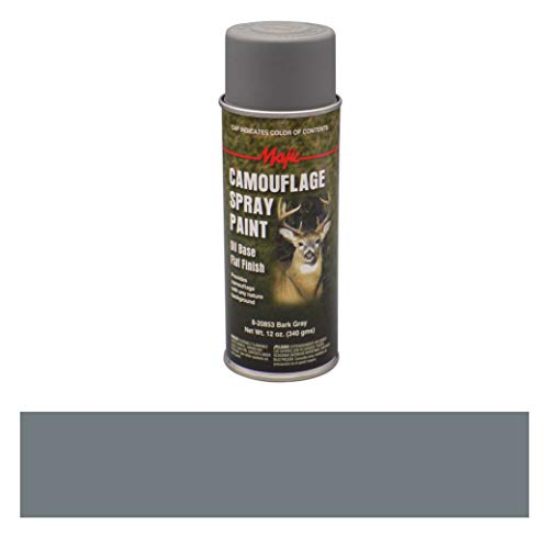 Majic Paints 8-20853-8 Camouflage Spray Paint, Aerosol, Bark Gray