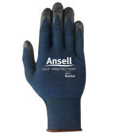 Ansell Edmont 97-505-8 Cut Resistant Glove with Nitrile Palm Coating (Carded), Kevlar/Stainless/Fiber Blend, Size 8, (Fibre Blend)