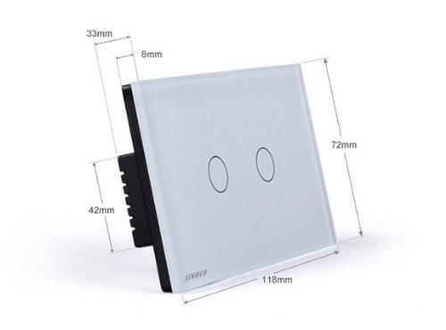 NIMTEK US/AU Standard, Smart home, Ivory White Crystal Glass Panel,VL-C302DR-81,110~250V/50~60Hz Wireless Dimmer Remote Light switch by NIMTEK (Image #2)
