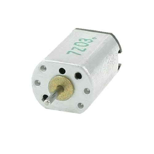 Uxcell N20 Output Speed Mini Motor for DIY Robot Toys, DC 3V, 0.008A, 10000 rpm