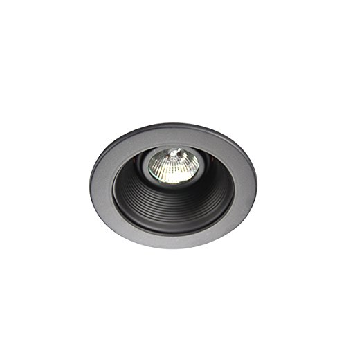 Eco Lighting NY HLV3001BK/BK 3-Inch for both Line/Low Voltage Trim Recessed Light, Adjustable Step Baffle, Baffle: Black, Ring: (Low Voltage Black Trim)