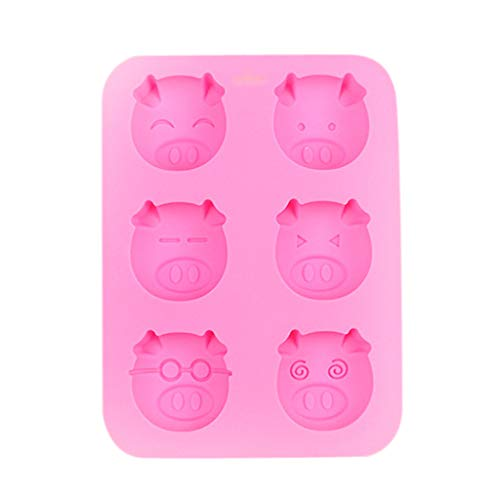 Iusun Biscuit Maker,Multifunction Pig Shape Embellisment Silicone