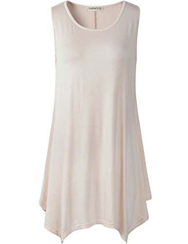 030d7b96827 LARACE Women Plus Size Solid Basic Flowy Tank Tops Summer Sleeveless Tunic  - Buy Online in Oman. | Apparel Products in Oman - See Prices, Reviews and  Free ...