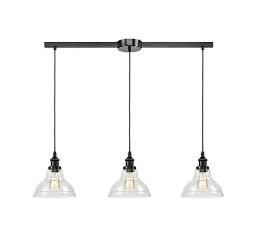 EUL Industrial Kitchen Island Lighting Fixture Pendant Lights Oil Rubbed Bronze-3 Lights (Kitchen 3 Light Pendant Island)