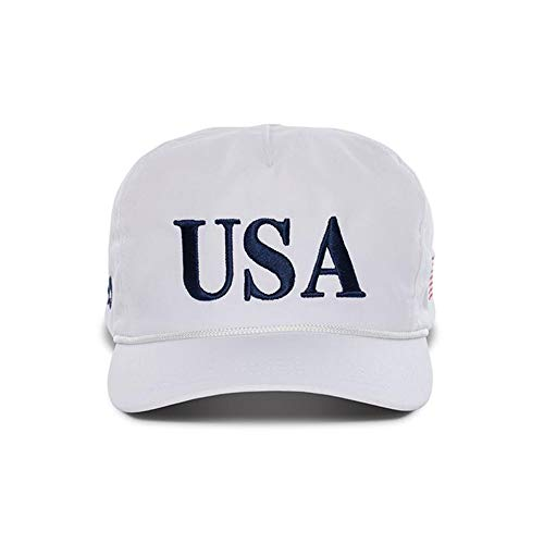 Official USA 45th Presidential Hat Embroidered Cap for Men & Women - White