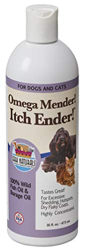 Ark Naturals Omega Mender Itch Ender Omega-6 Omega-3 Dietary Supplement for Dogs and Cats, Relieves Itching, Reduces Shedding, Hot Spot Treatment