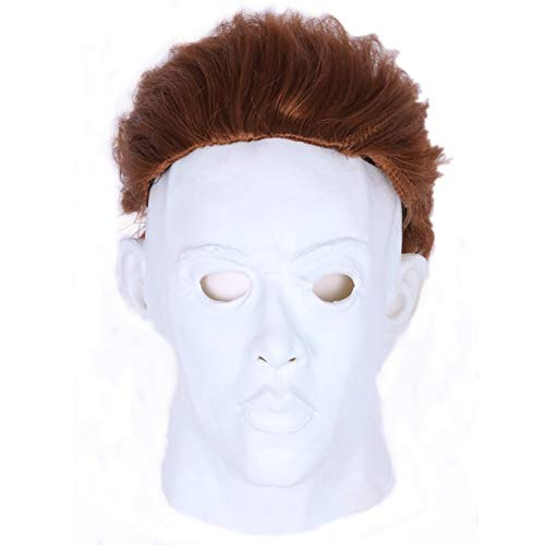 LeMarnia Costume Movie Halloween Michael Myers Deluxe Overhead Mask Cosplay Adult Latex Party Mask ()