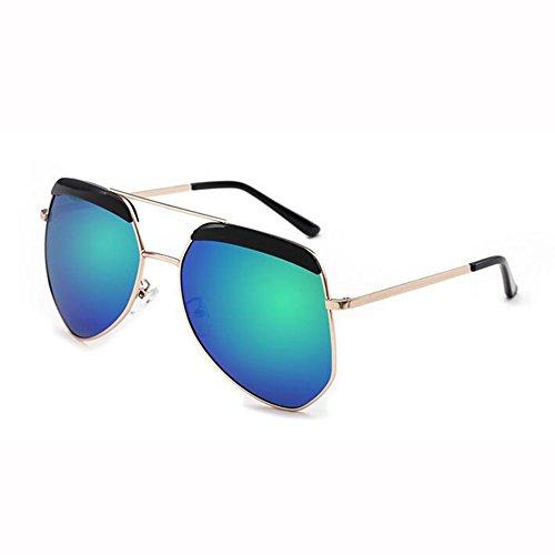 Luz WX Polarizada Gafas T1 Hembra T4 Hormiga De Gafas Sol xin Irregulares Color Montura Hipster Masculino Grande Gafas De rSqE6rt