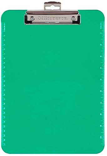 OfficeMax Letter-size Plastic Clipboard, Lime Green