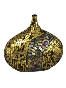Dale Tiffany PG10041 Antique Gold Art Decorative Accent, 14-1/2-Inch by (Gold Antique Table Lamp)