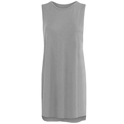 DigitalSpot - Camiseta sin mangas - para mujer gris