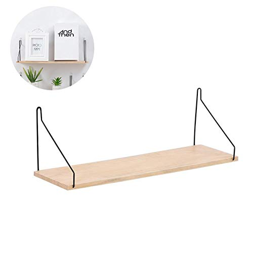 n Wall Shelf Iron Partition Board Bedroom TV Wall Hanging Storage Shelf Rack for Home & Living Room Decoration ()