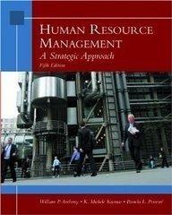 Human Resource Management : A Strategic Approach