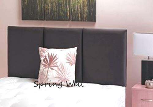 Luxury 52 Tall Floor Standing Winged Buttoned Headboard Upholstered in Highland Sandstone Faux Wool Kingsize 5ft