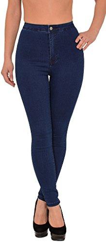 Slim bleu Skinny Femmes Jeans by tex Femme J304 Femme Pantalon Haute Z92 Jean surdimensionner Taille fx64n1qx