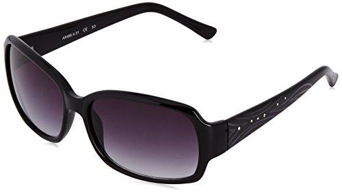 Alpina A106 Ceramic Mirror Gradient S3 Ski Glasses - Black (A106 Glasses)