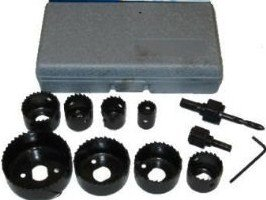 """13Pc 3/4"""" to 2-1/2"""" Hole Saw Set for Door Knob Lock Etc. from Cal-Hawk"""